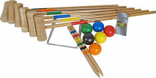 Croquet Set 6 Player Wooden Croquet Set Garden Games Family Game Family Sports