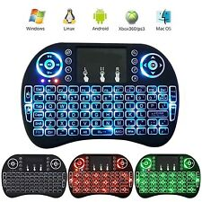 Mini i8+ 2.4GHz Wireless LED Backlit Keyboard & Touchpad Mouse *US SELLER*