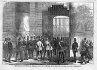 FENIAN CONSPIRACY IN IRELAND 1866 MARCHING PRISONERS INTO COUNTY PRISON AT CORK