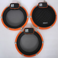 "3x 2Box 10"" Electronic Mesh Head Drum Pads Dual Zone Trigger Pads Electric Kit"