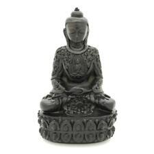 "BUDDHA STATUE 5.5"" Dark Resin Buddhist Deity Meditating Meditate HIGH QUALITY"