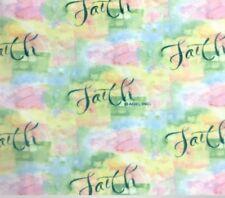 "Inspirational Faith Fleece Fabric - 60"" Wide - Style# 8083"