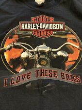 HARLEY DAVIDSON I Love These Bars Thunder Creek Tennessee Motorcycle Shirt Small