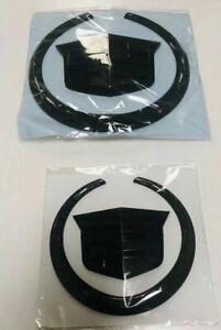 NEW Escalade,CTS,SRX Front & Rear Wreath Crest Black Emblem Badge FOR Cadillac