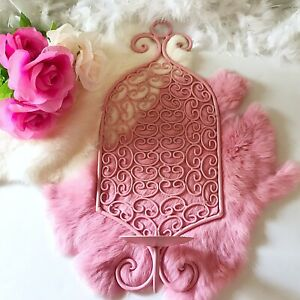 Vintage Pink Wall Hanging Pastel Kawaii Bedroom Candle Holder Shabby Chic