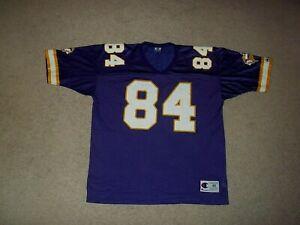 Vintage Champion Randy Moss Minnesota Vikings Purple #84 size 48 Adult Jersey