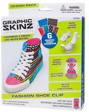 👟 Graphic Skinz Design Studio Fashion Shoe Clip NIB Free Shipping Ages 6+ 👟