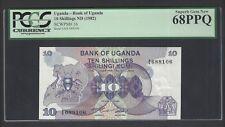 Uganda 10 Shillings ND(1982) P16 Uncirculated Graded 68