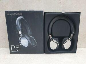 Bowers & Wilkins P5 Mobile Hi-Fi On-Ear Headphones - Black - Ex-Demo
