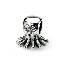 Octopus Kids Bead .925 Sterling Silver Antique Finish Reflection Beads