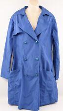VERSACE JEANS Women's Nylon DORY Trench Coat, Royal Blue, size UK 14