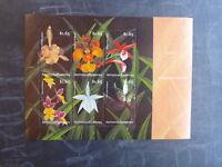 2001 ANTIGUA & BARBUDA ORCHIDS 6 STAMP SHEETLET MNH