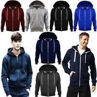Mens New Fleece PLUS BIG SIZE Hooded Sweatshirt Hoodie Top Jacket Zip Jumper UK