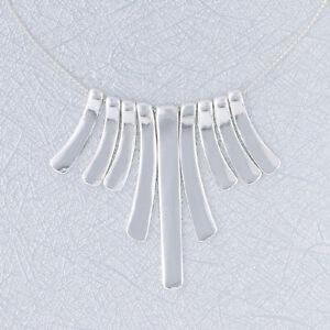 Bib Dangle Pendant Necklace Sterling Silver NEW