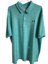 Under Armour $65 Mens Loose XXXL Playoff Polo Golf Shirt Heather Green