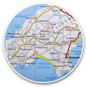 2 x Vinyl Stickers 10cm - Lleyn Wales Welsh Travel UK GB Map  #45595