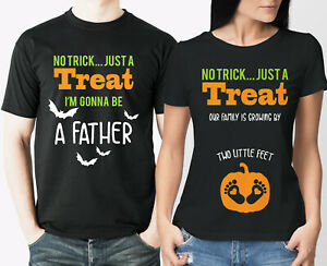 Halloween couple pregnancy reveal t-shirts set mummy daddy to be.