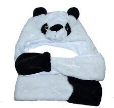 Panda Bonnet D'Hiver avec Écharpe Motif Animal Costume Femme Homme Halloween
