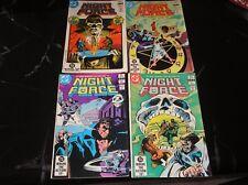 Night Force Comic Books #1,2,5,6 1982-1983 Good-/Good+ Condition
