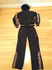STELLA McCARTNEY ADIDAS THREE STRIPE WOMENS TRACK SUIT HOODED SIZE X-SMALL RARE
