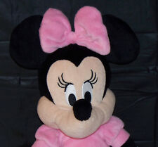"""DISNEY BABY KIDS PREFERRED ADORABLE MINNIE MOUSE 16"""" SOFT PINK DRESS & BOW"""
