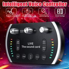 Portable PC Webcast Live Sound Card Mobile Phone Voice Changer Voice Control
