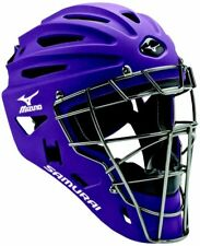 New Other Mizuno Samurai Catcher's Helmet G4 Youth Purple/Silver 6 1/2 - 7 1/4