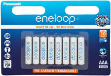 8x Panasonic Eneloop AAA Rechargeable Ni-MH Batteries Ready to Use Free Shipping