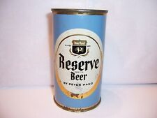 1950's Peter Hand Reserve Flat Top Beer Can Brewed in Chicago, Il Bottom Open
