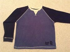 Next Long Sleeved Two Toned Blue Top Age 10 years