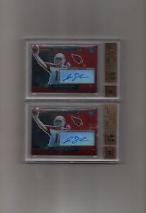 #8/10 10 TOPPS PLATINUM RED REFRACTOR AUTO AUTOGRAPH JOHN SKELTON RC BGS 9.5/10