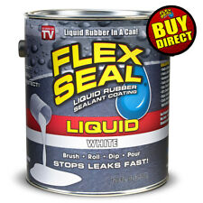 Flex Seal Liquid - Liquid Rubber Sealant Coating - Giant 128oz (White)