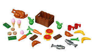 Lego 40309 XTRA Accessories Food Pack Ice Cream Turkey Pizza Fish Croissant NEW