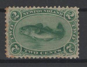 G129753/ NEWFOUNDLAND / CANADA / SG # 31 MINT MH MEDIUM PAPER – CV 155 $