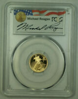 1989-P $5 American Gold Eagle 1/10th Oz PCGS PR 69 DCAM Michael Reagan Legacy A