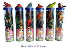 7 Pc Plastic Animals playmat tube Dinosaur Sea Farm Insect Reptile Pretend Toy