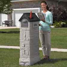 Mailbox Post Lockable Storage Combination Drop Box Residential Brick Heavy Duty