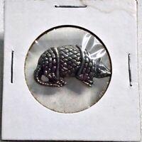 Vintage ARMADILLO Pewter Metal Pin - Southwestern Desert Animal Pinback