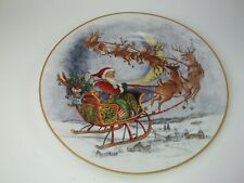 Pottery Barn Kids Holiday Platter Cookie Christmas Santa Reindeer Plate #1811