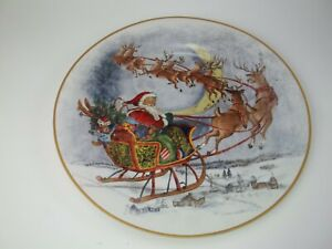 Pottery Barn Kids Holiday Platter Cookie Christmas Santa Reindeer Plate #1811