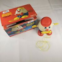 Vintage Fisher Price 1971 HUMPTY DUMPTY Pull Toy # 736 With Box