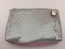 💞VINTAGE💞Whiting and Davis Silver Mesh Clutch Bag Upcycled