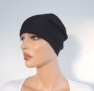 🆕️ Authentic RALPH LAUREN DENIM Black Viscose KNIT BEANIE Cap Hat XS/S