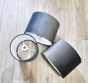 New Luxury high quality velvet lamp shade pendant shade - charcoal grey