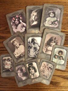 Cabinet Cards Handmade Vintage Victorian Girls Journal Book Scrapbook Lot 11