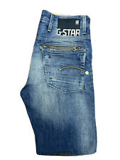 Original G-Star RAW Navy Attacc Straight Blue Cotton Denim Jeans W31 L33 ES 7700