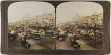 États-Unis USA La Nouvelle-Orléans Canal Street Photo Stereo Vintage 1901