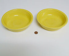 "Lot (2) Homer Laughlin FIESTA WARE Sunflower Yellow SOUP CEREAL BOWLS 7"" USA EUC"