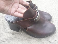 L J Simone Women's Clogs Shoes Black Leather 8.5 B