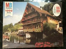 VINTAGE 1975 BIG BEN 1000 PC PUZZLE PICTURESQUE CHATEAU MILTON BRADLEY COMPLETE